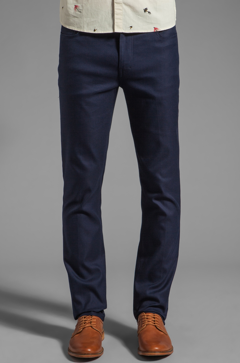 FARAH VINTAGE The Mills Slim Fit Hopsack Jean in Midnight