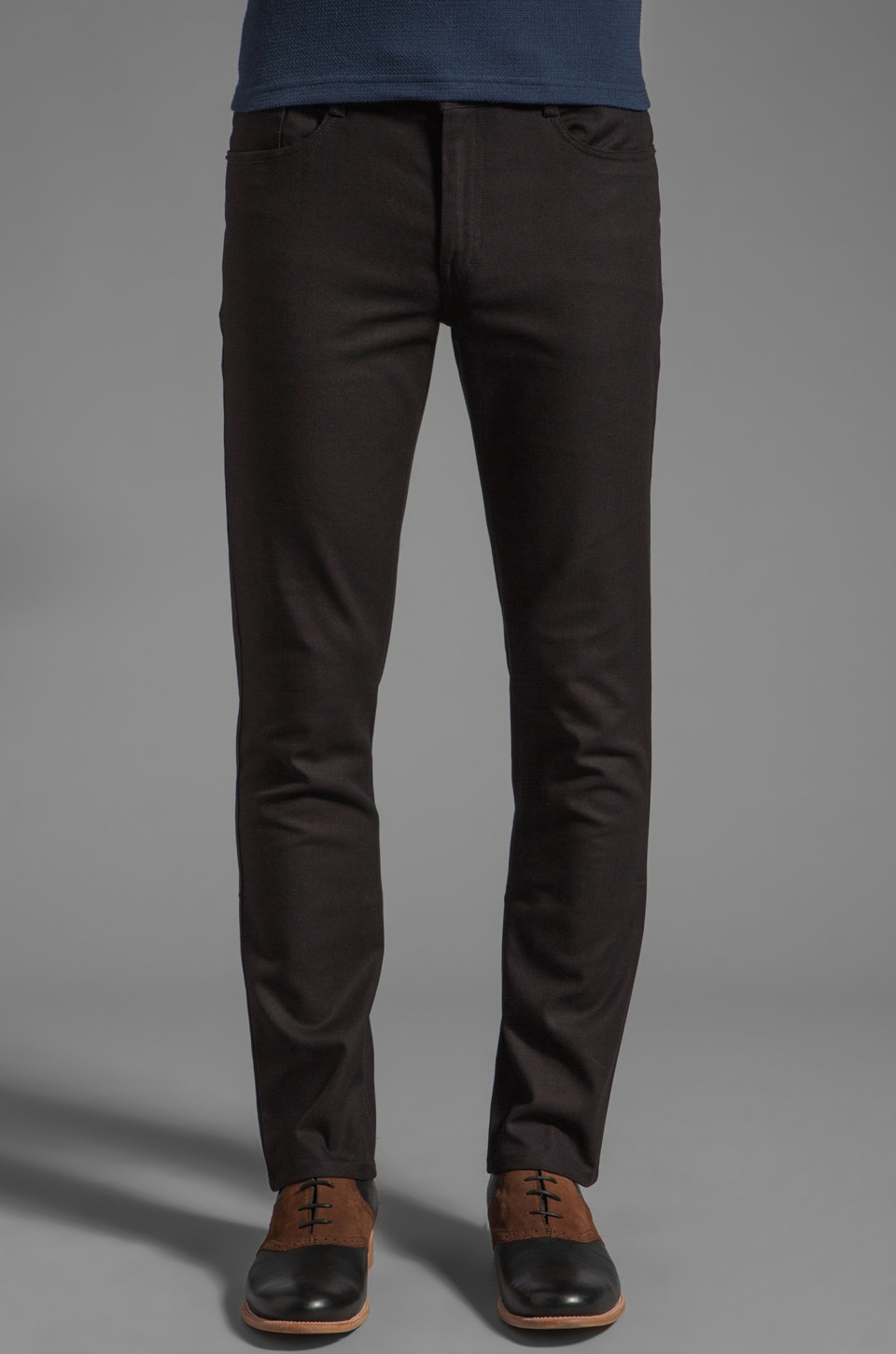 FARAH VINTAGE The Mills Slim Fit Hopsack Jean in Black