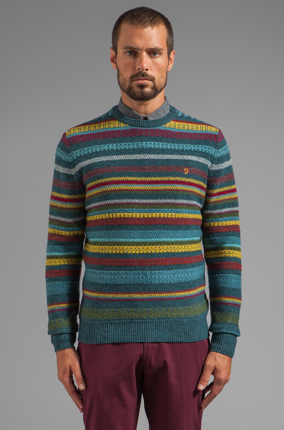 FARAH VINTAGE The Whitmore Pullover in Pacific