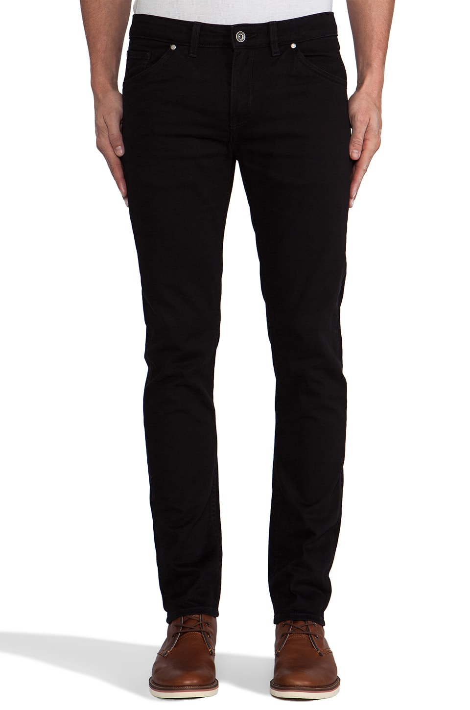 FARAH VINTAGE The Drake Stretch Pant in Black