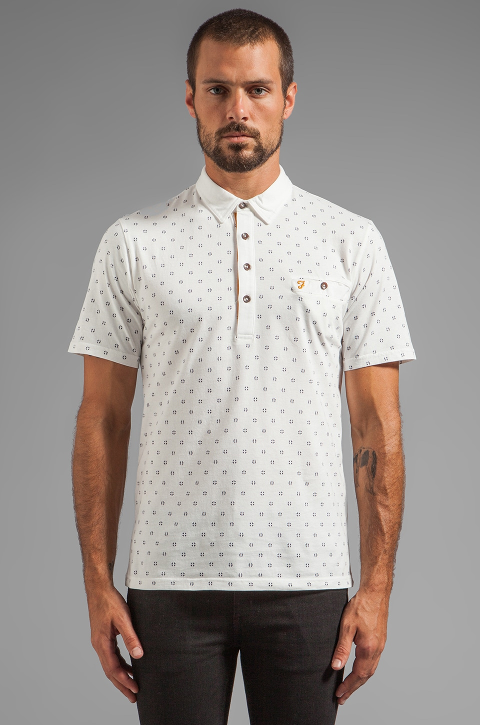FARAH VINTAGE The George Polo in Ecru