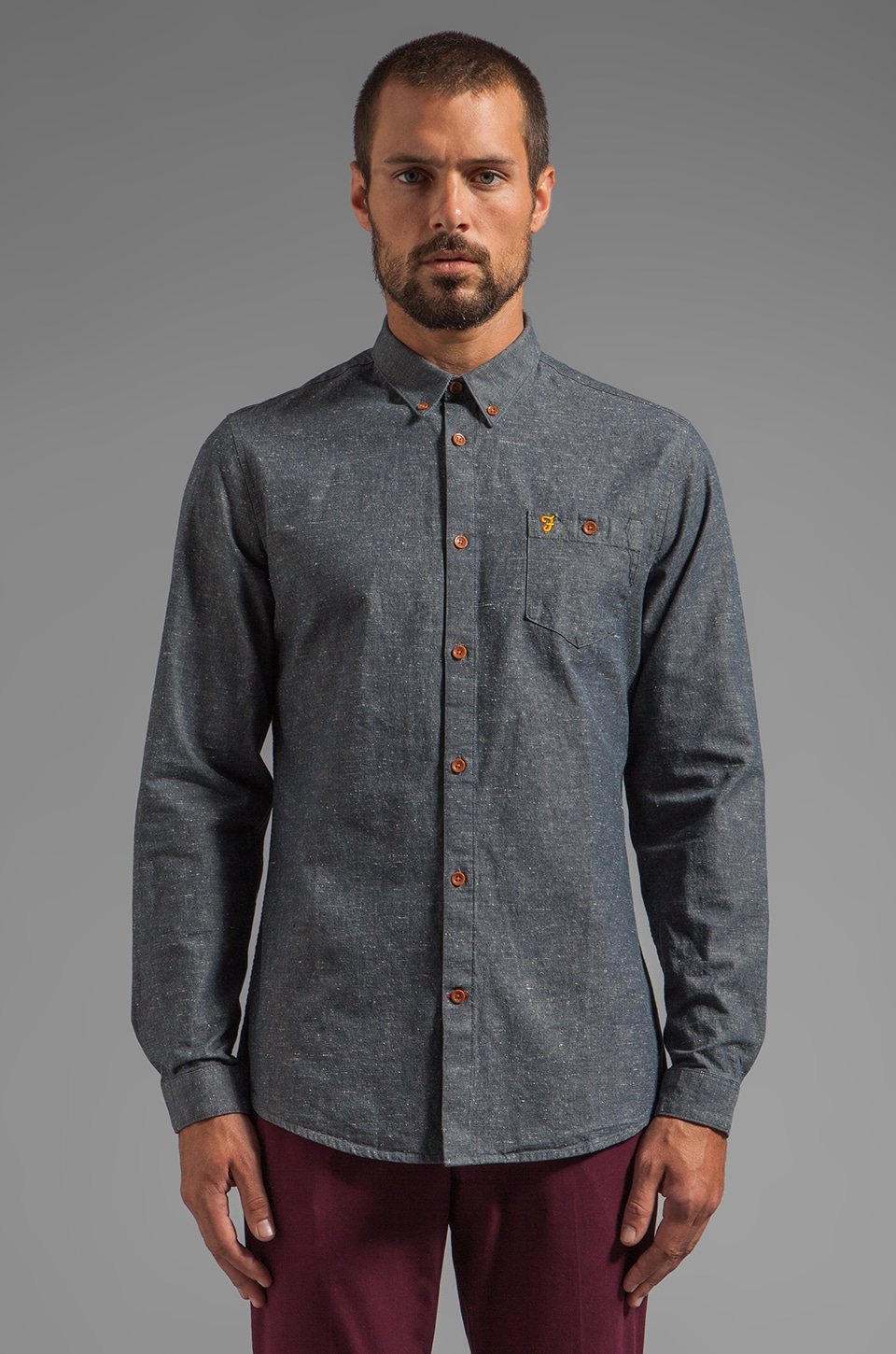 FARAH VINTAGE The Hanover Button Down in Pacific