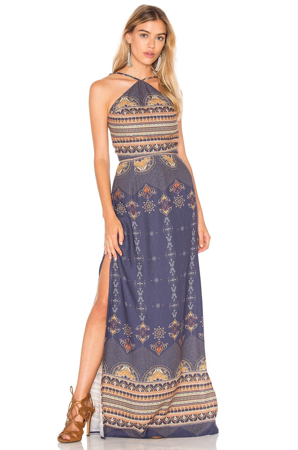 FARM Bangalora Maxi Dress in Blue