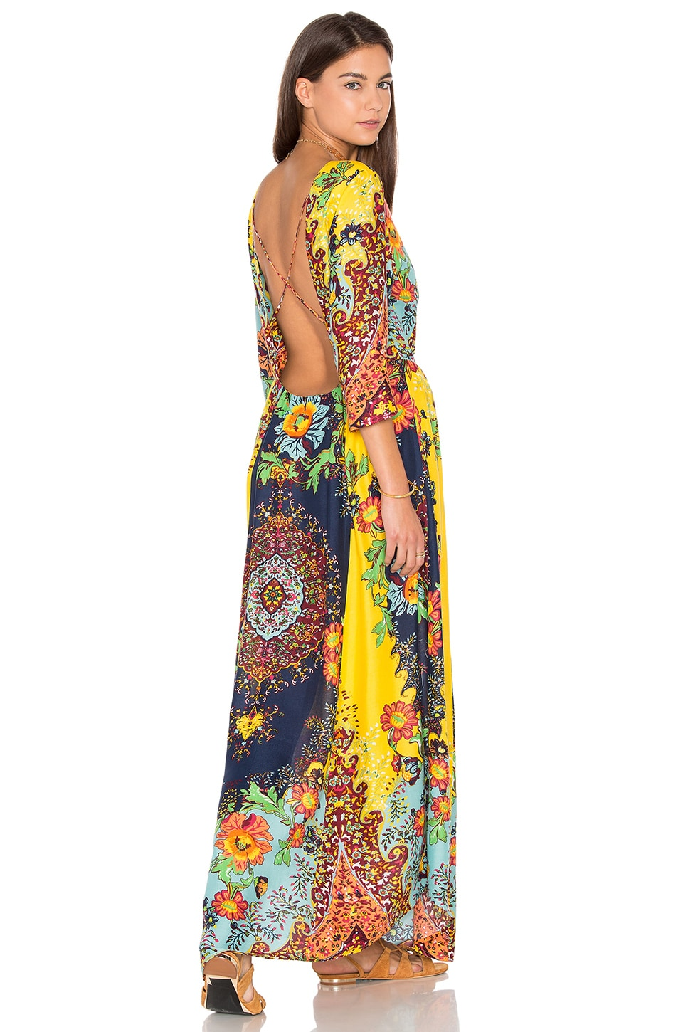FARM Maxi Dress in Multi