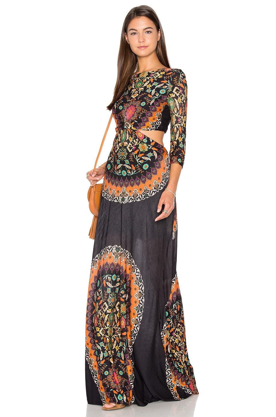 FARM Cutout Maxi Dress in Multi | REVOLVE