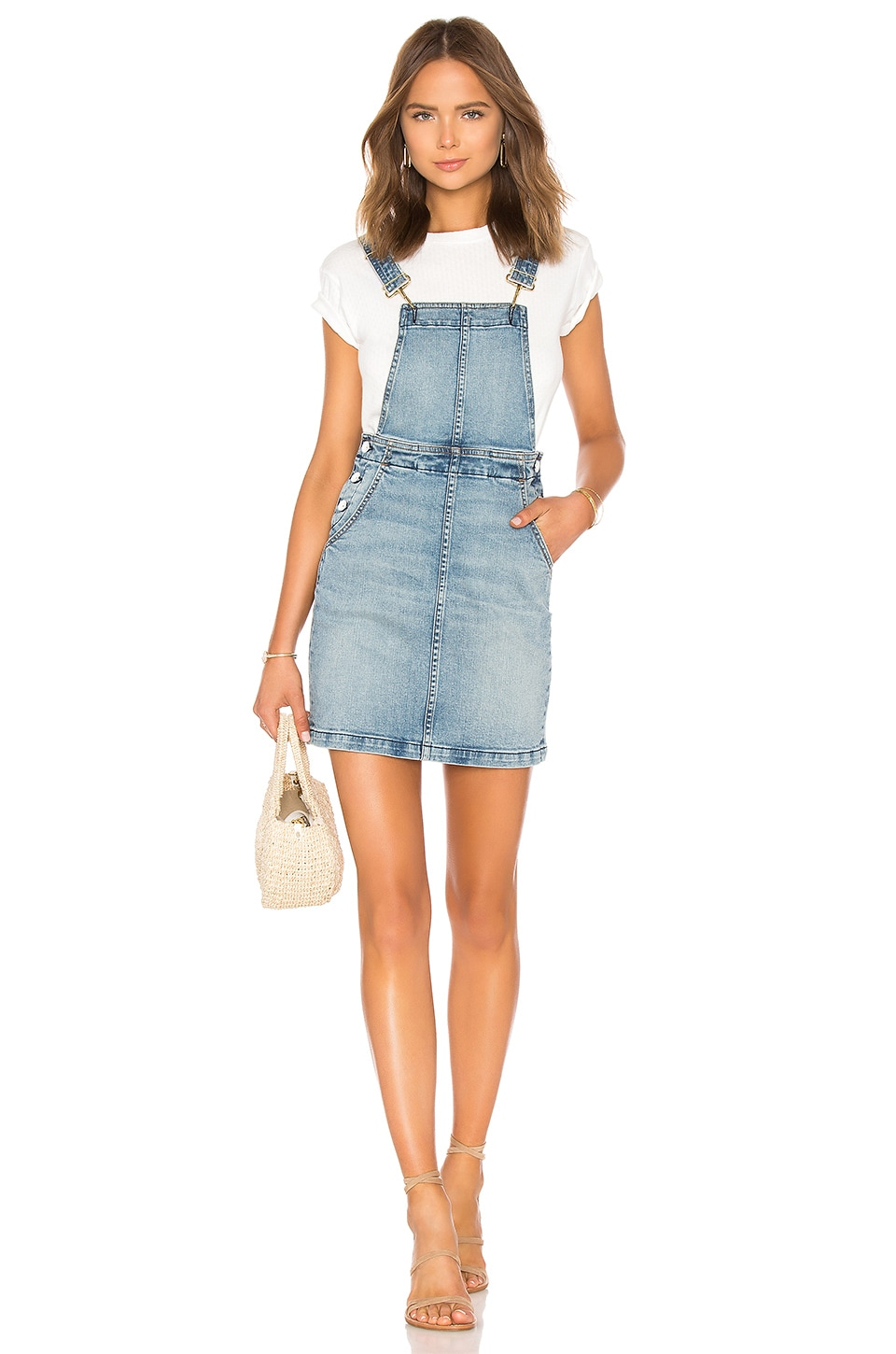 FATHER'S DAUGHTER Gail Overall Dress in Salt