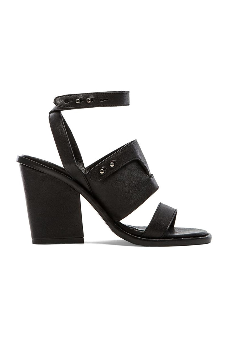 Freda Salvador Go Heel in Black Calf