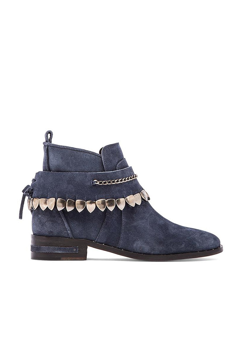 Freda Salvador Star Bootie in Navy Suede