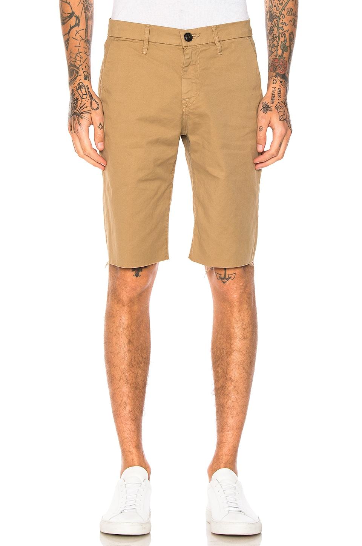 FRAME Denim Chino Shorts in Khaki