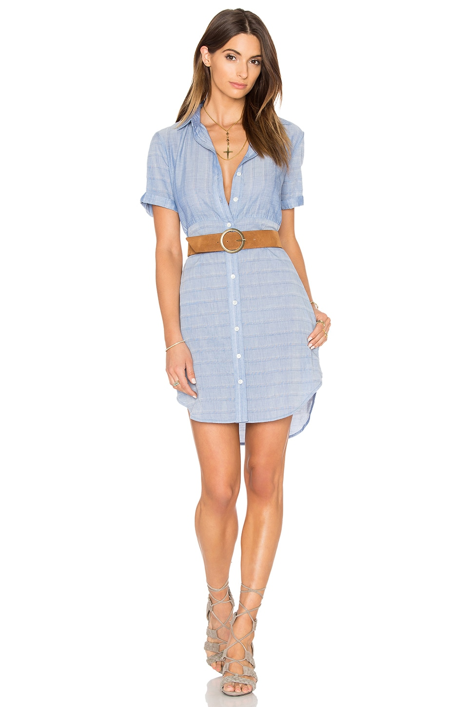 Le Short Sleeve Shirt Dress by FRAME Denim