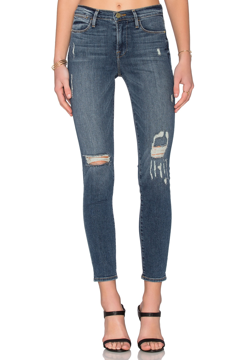 FRAME Denim Le High Skinny in Star Gazer