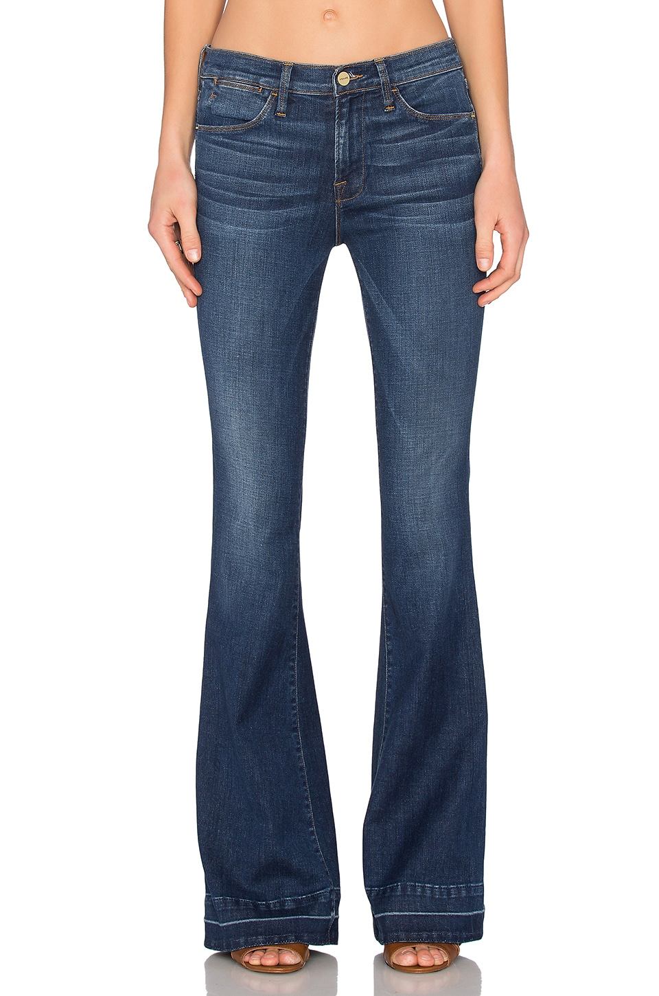 FRAME Denim Le High Flare in Colby