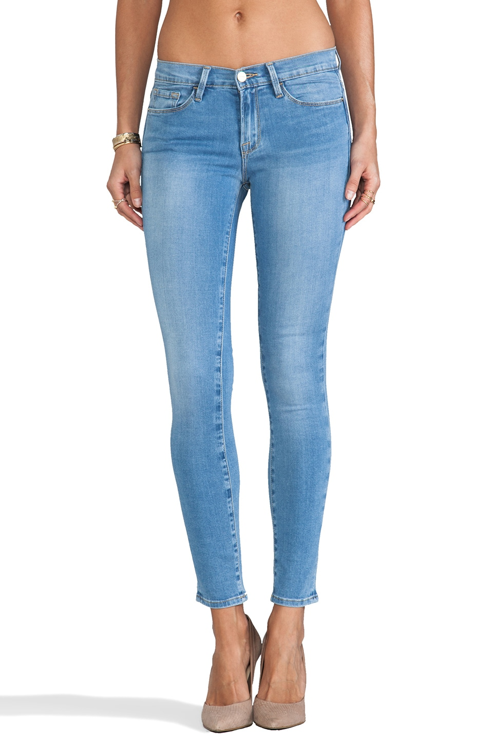 FRAME Denim Le Skinny Lisse in Muholland
