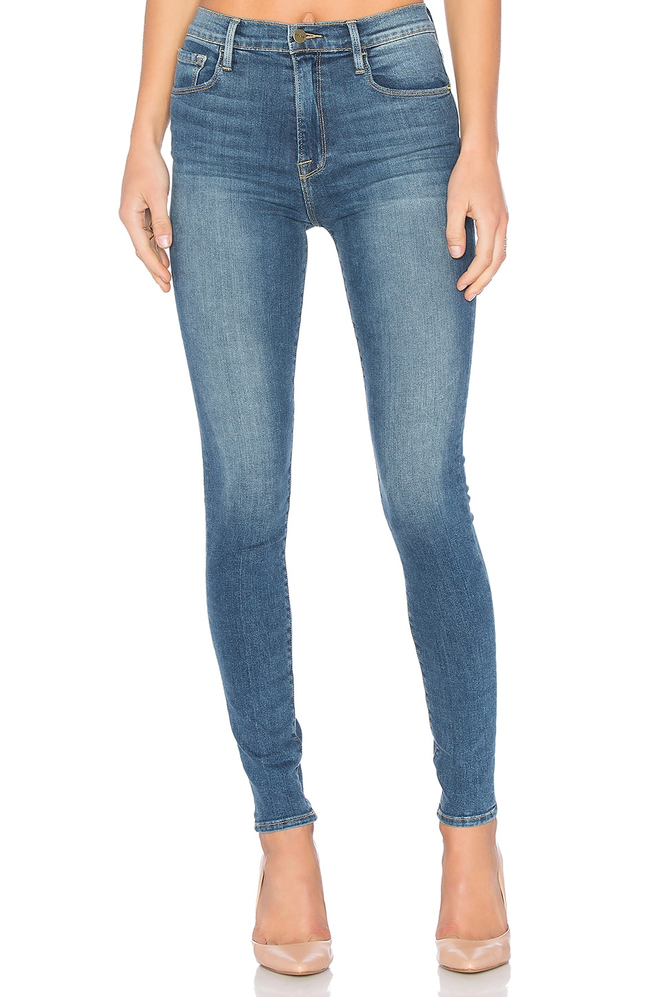 FRAME Denim Ali High Rise Skinny in Caldwell