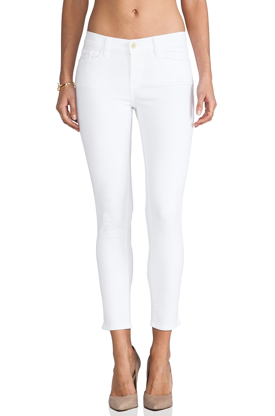 FRAME Denim Le Color Crop in Blanc