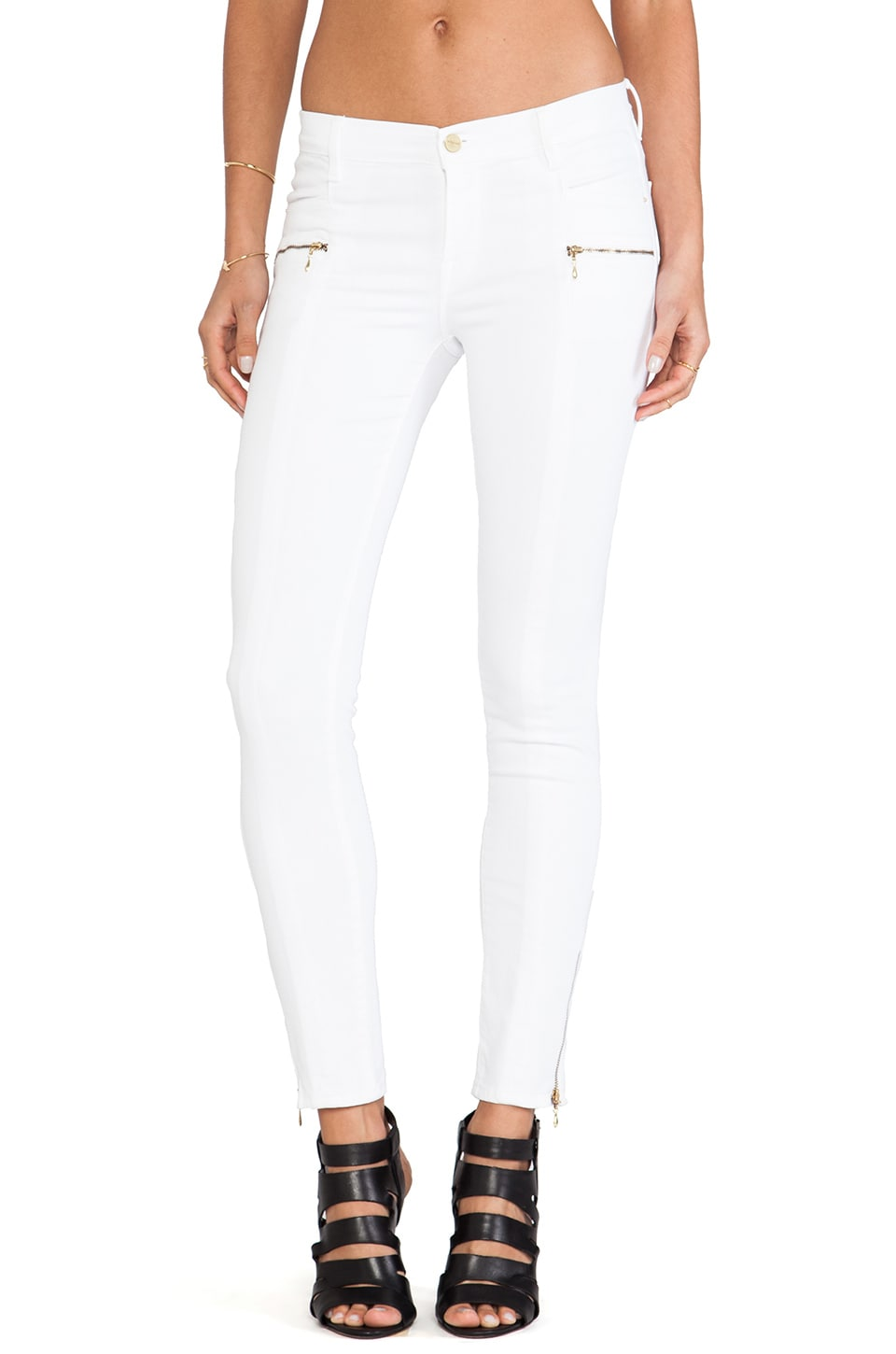 FRAME Denim Le Skinny Knife Pocket in Blanc