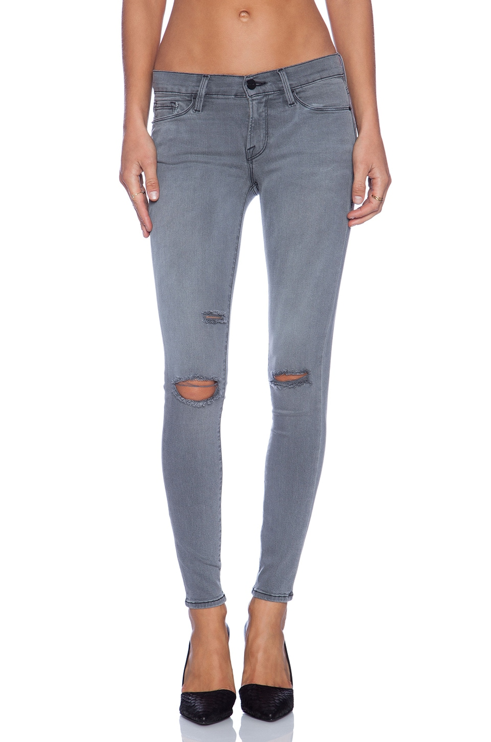 FRAME Denim Le Skinny Satine in Warren
