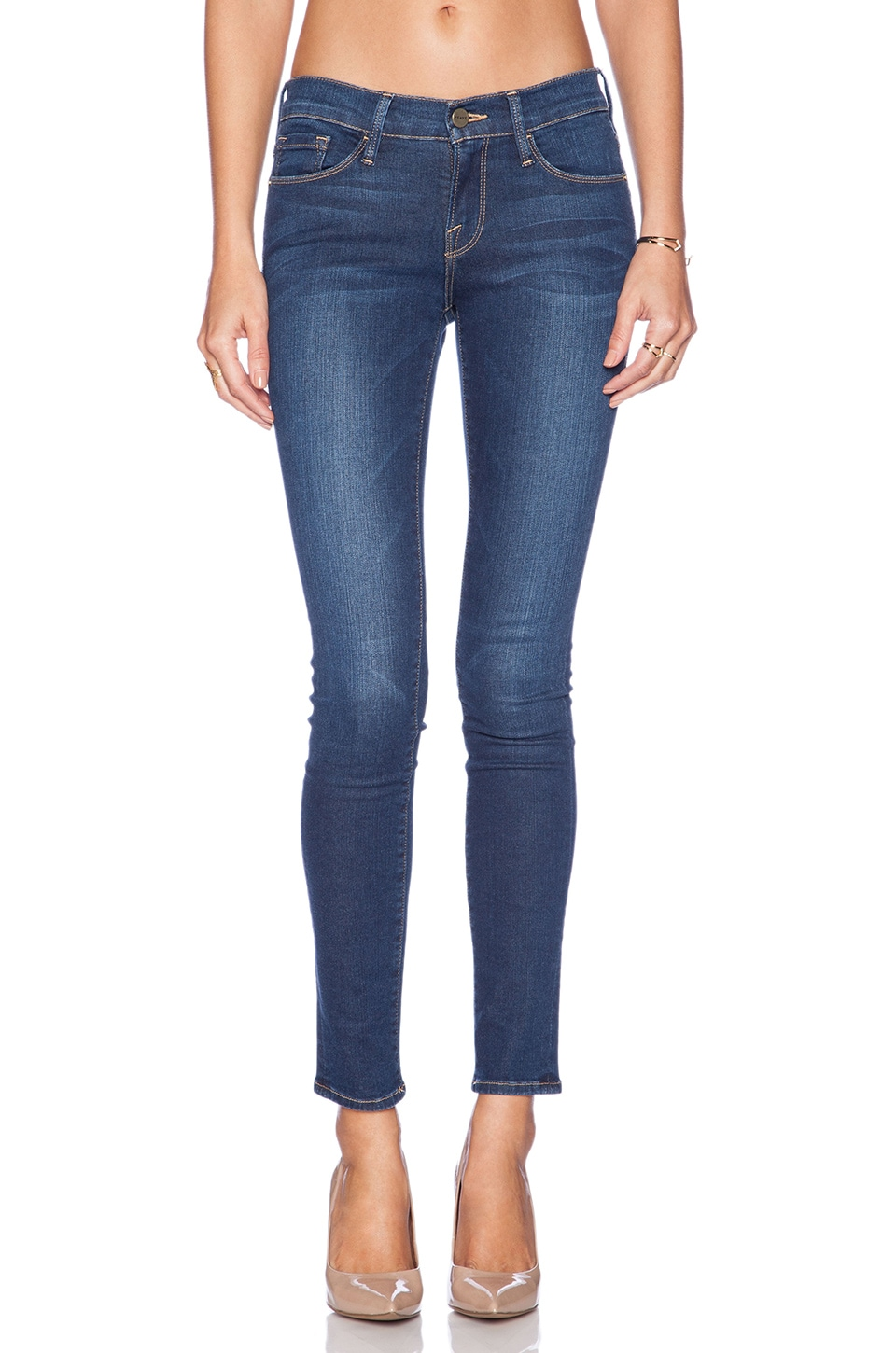 Le Skinny in Blue Frame Denim 12Svyr2d