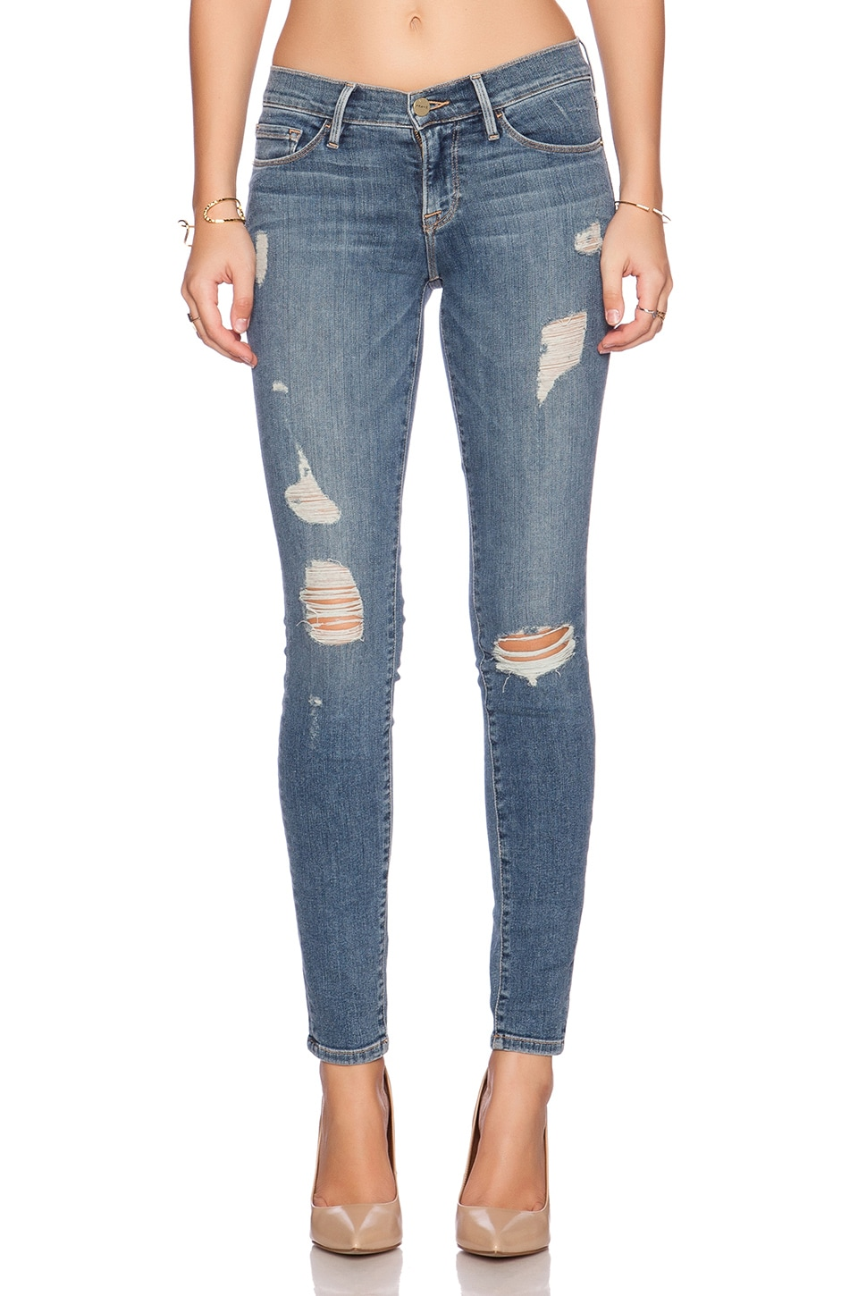 FRAME Denim Le Skinny De Jeanne in Kitty Hawk