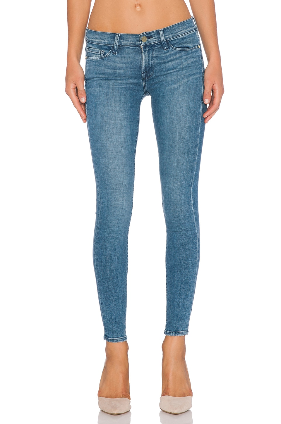 FRAME Denim Le Skinny De Jeanne in Barbour