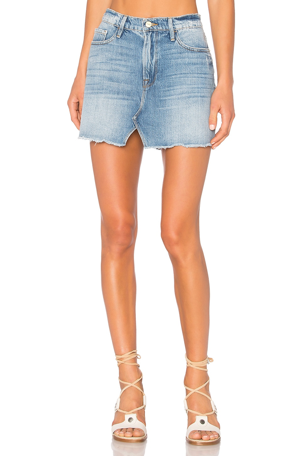 FRAME Denim Le Mini Skirt in Stoneview