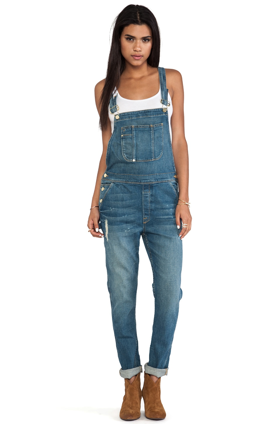 FRAME Denim Le Garcon Overall in Stone Canyon