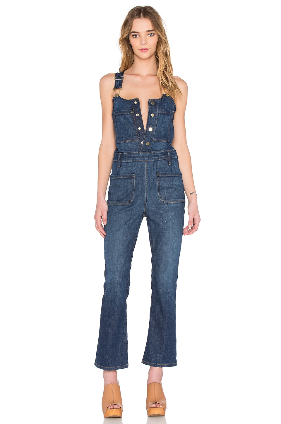 FRAME Denim Le High Crop Overall in Radnor