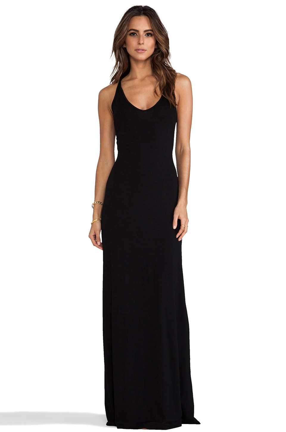 Feel the Piece V Neck Maxi Dress in Black