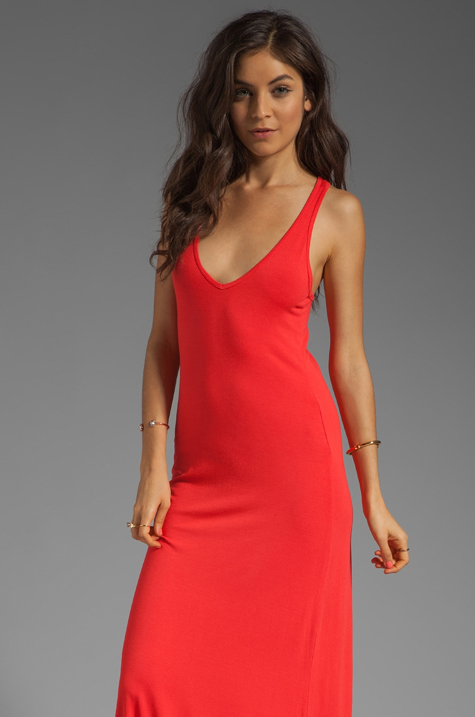 Feel the Piece V Neck Maxi Dress in Dacquri