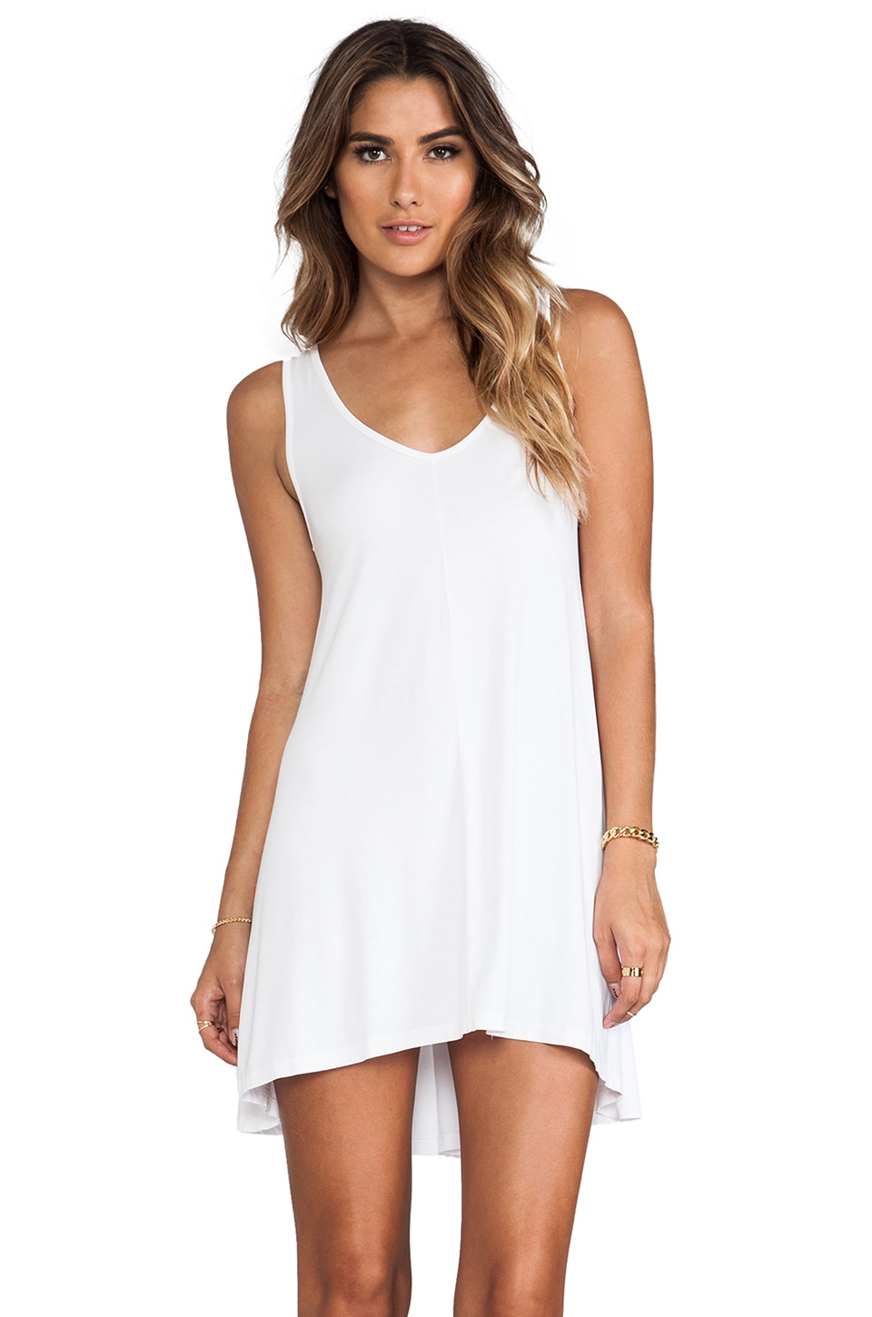 Feel the Piece Short Dress in White