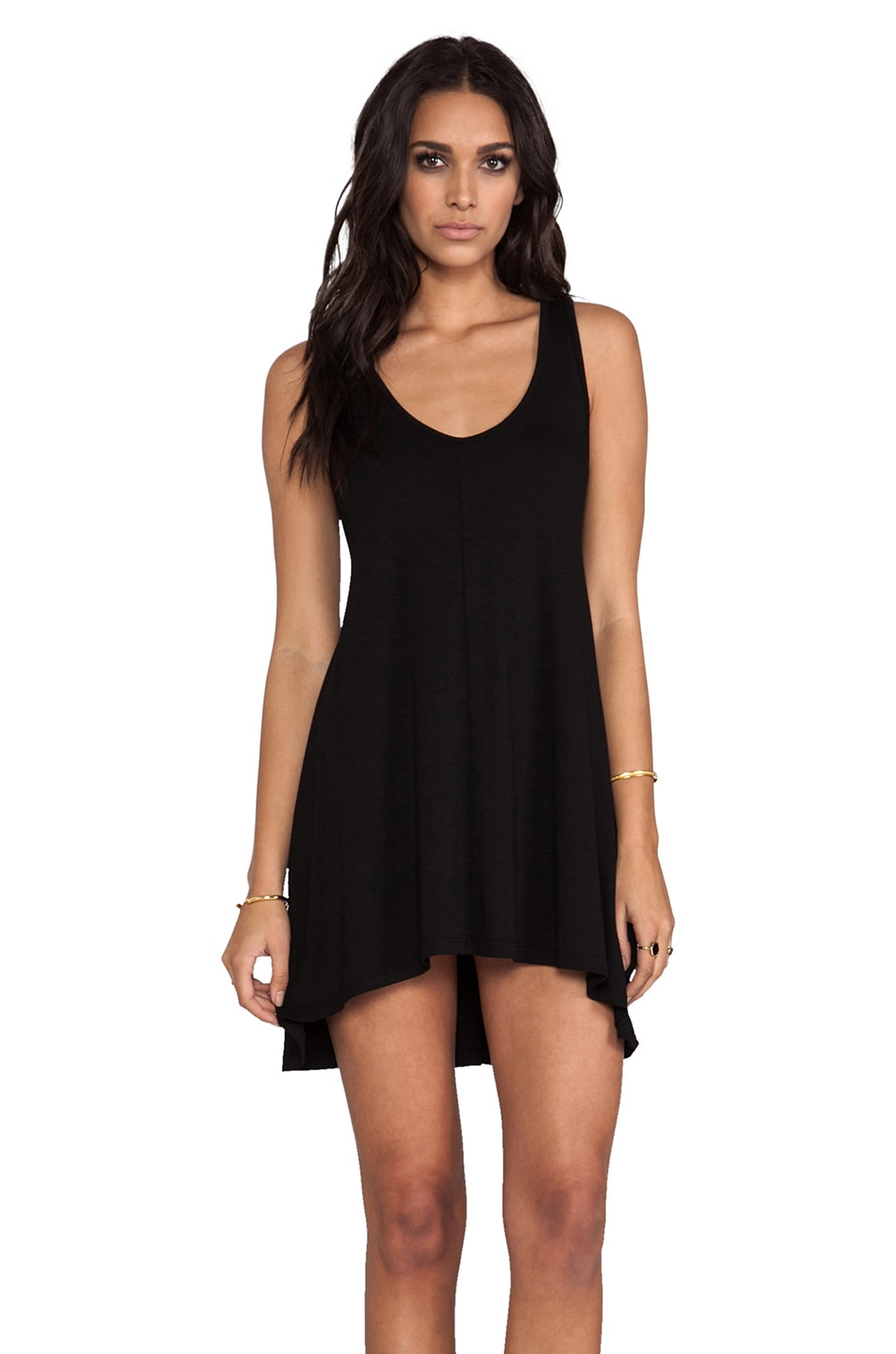 Feel the Piece Short Dress in Black