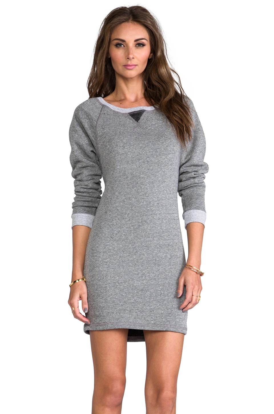 Feel the Piece The Shopper Sweatshirt Dress in Charcoal