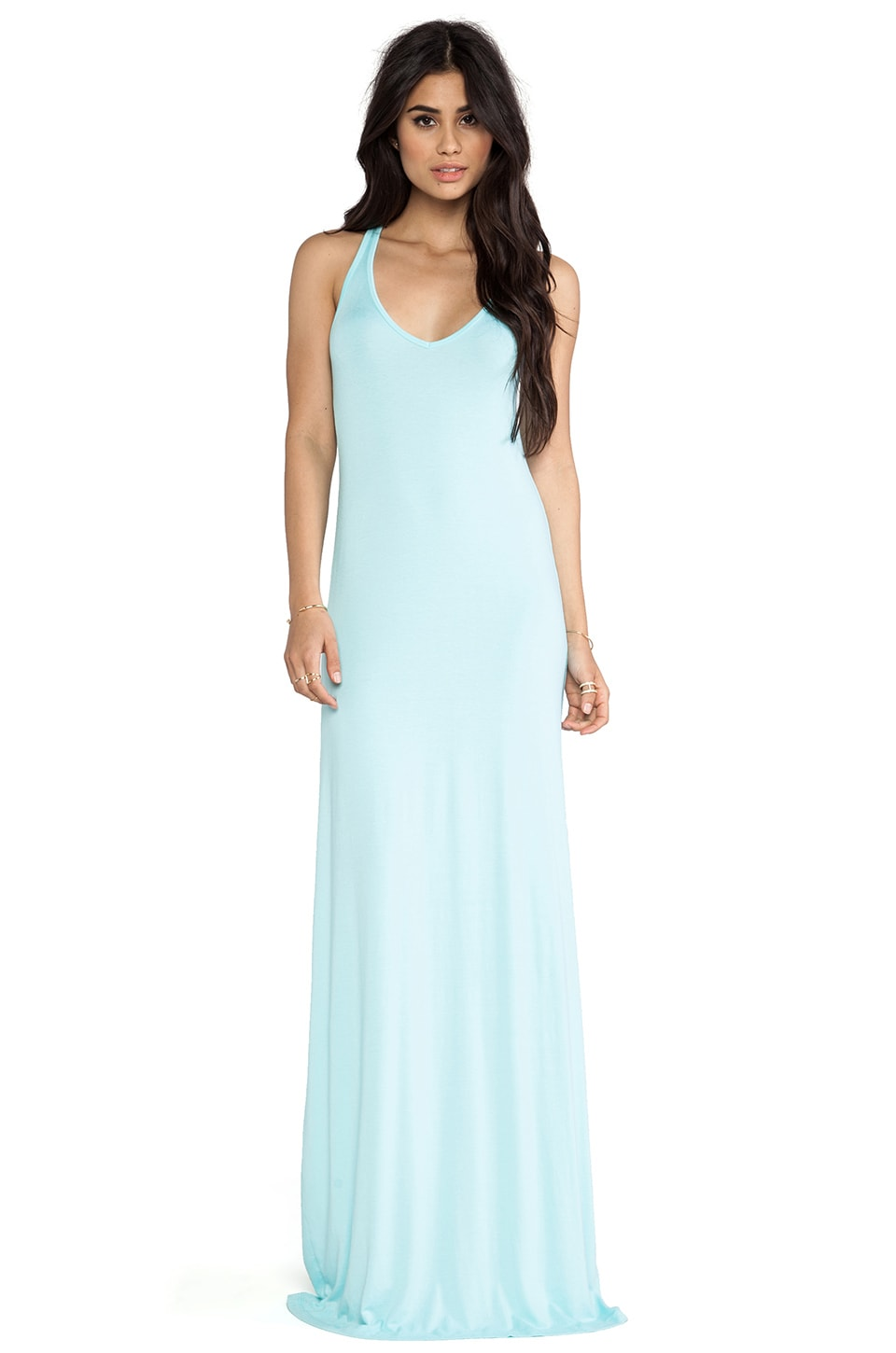 Feel the Piece V Maxi Dress in Aquatic