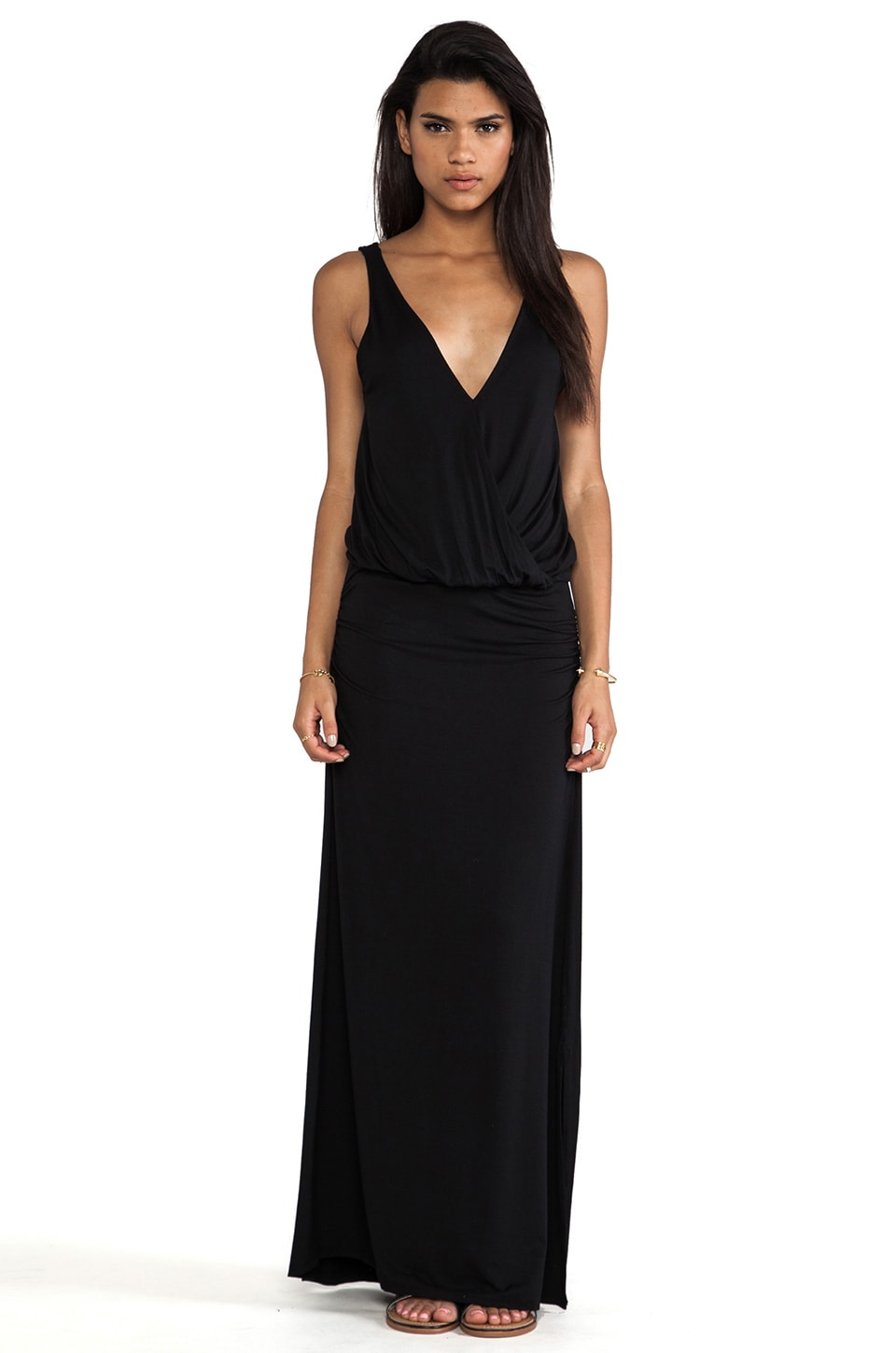 Feel the Piece Sophie Wrap Maxi Dress in Black