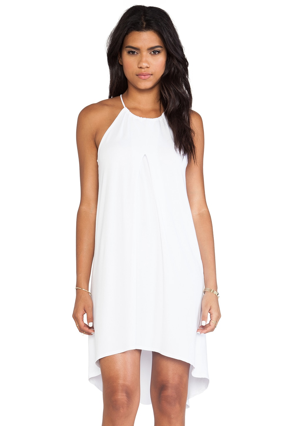 Feel the Piece Mojave Halter Dress in White