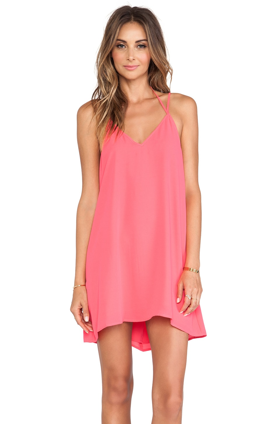 Feel the Piece Fiona Cami Dress in Strawberry Pink