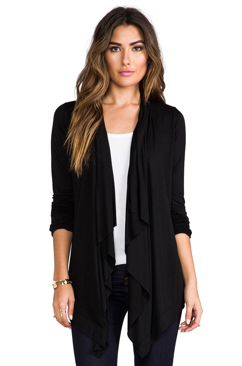 Feel the Piece Blake Sweater Wrap in Black