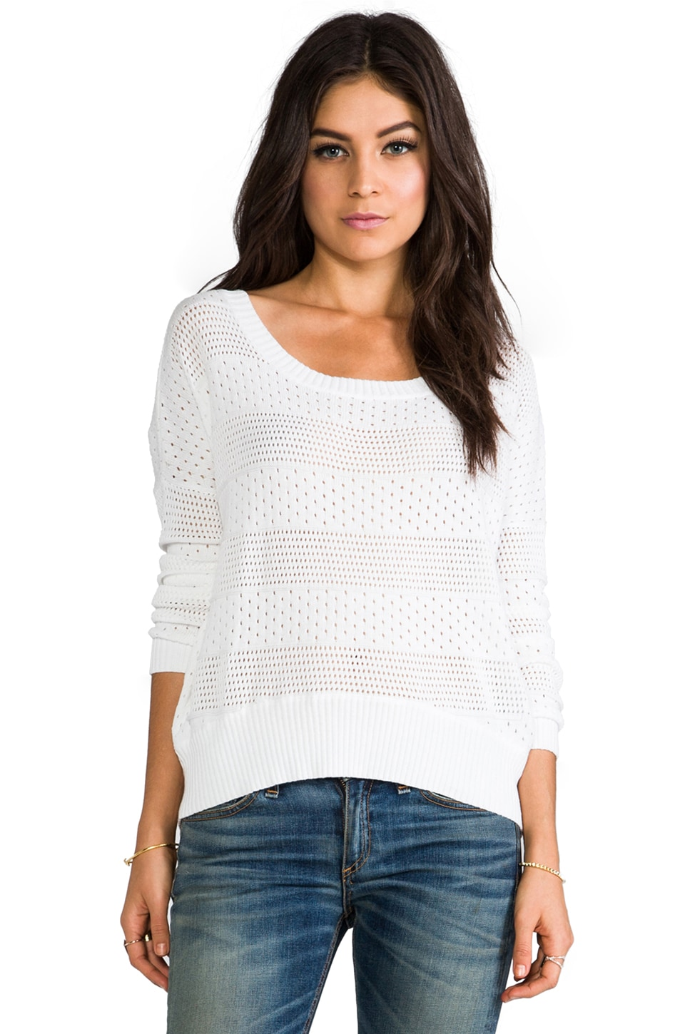 Feel the Piece Sam Sweater in White