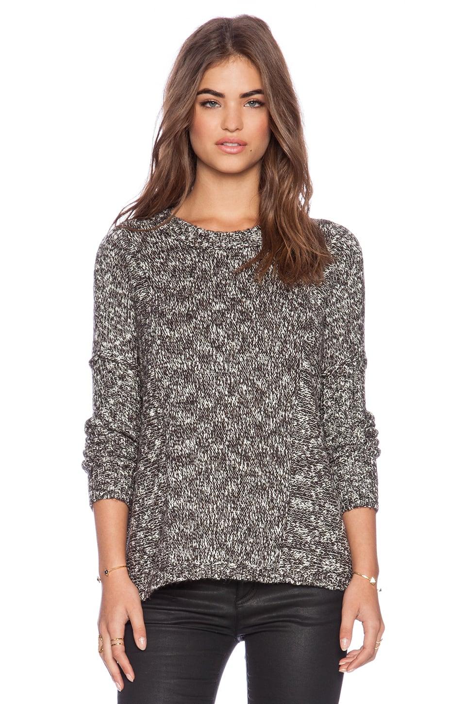 Feel the Piece Iris Oversized Sweater in Black Marl