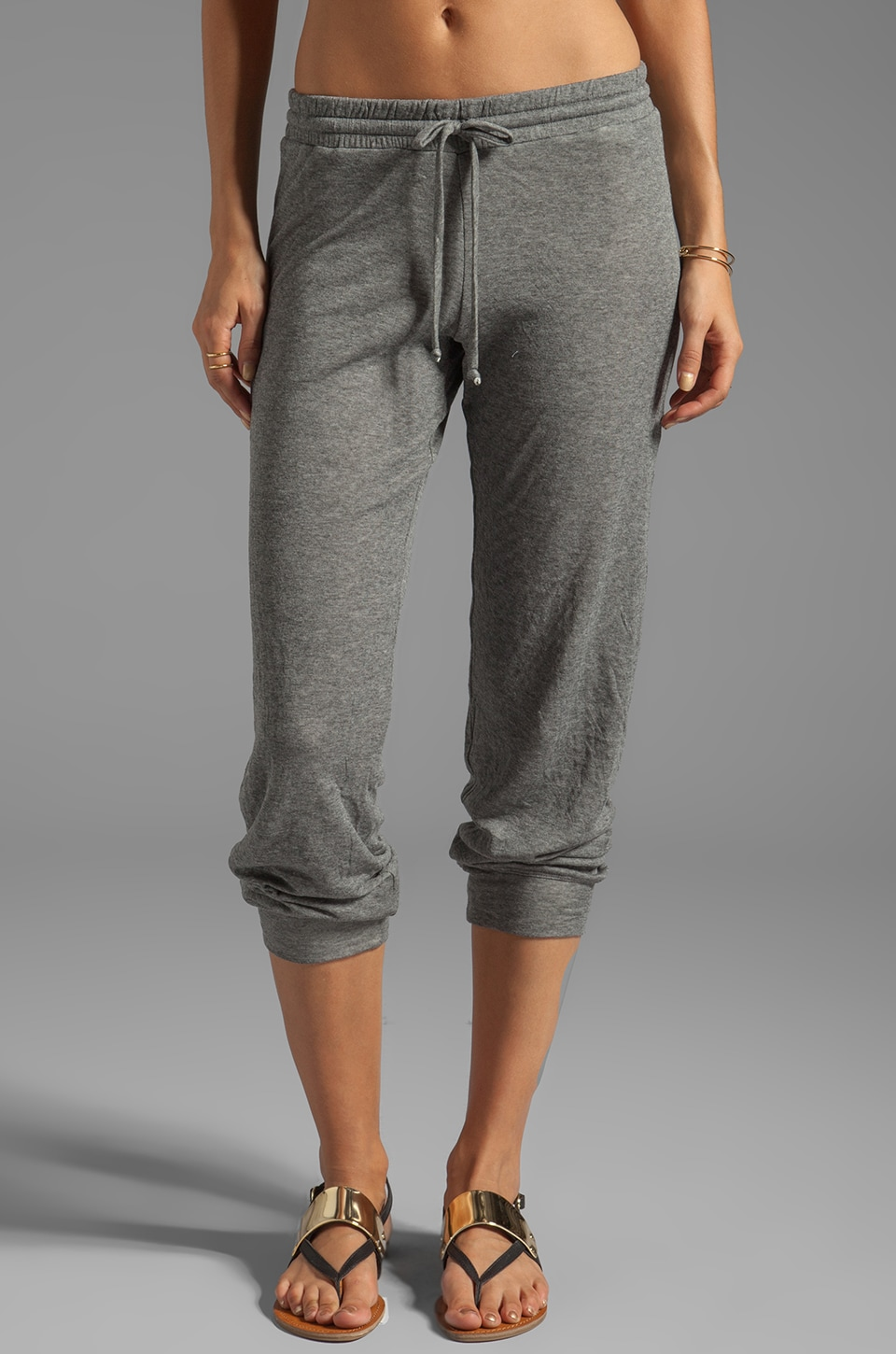 Feel the Piece Jamie Draw String Pant in Heather Grey