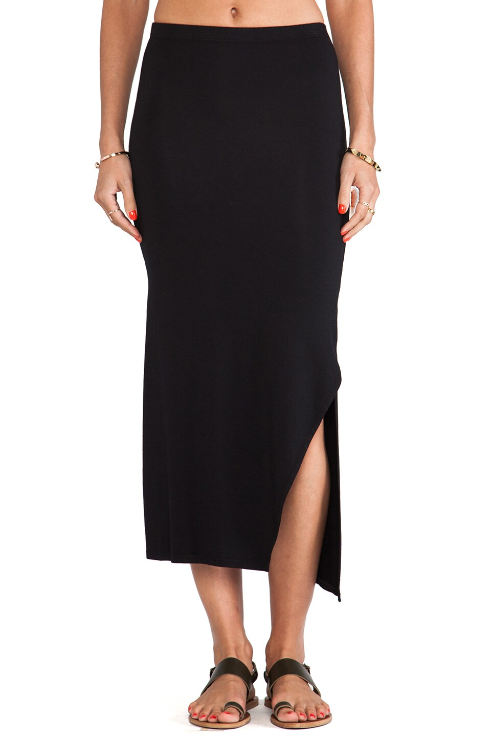 Feel the Piece Mindy Skirt in Black