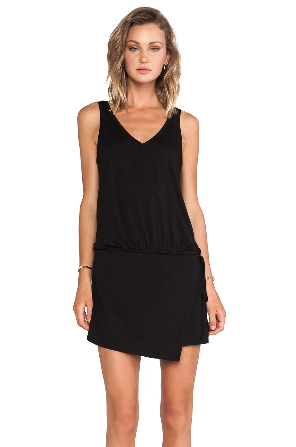 Feel the Piece Kalahari Skort Romper in Black