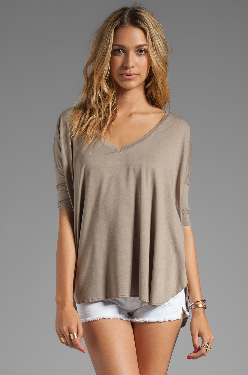 Feel the Piece Sparrow Oversized Tee in Taupe