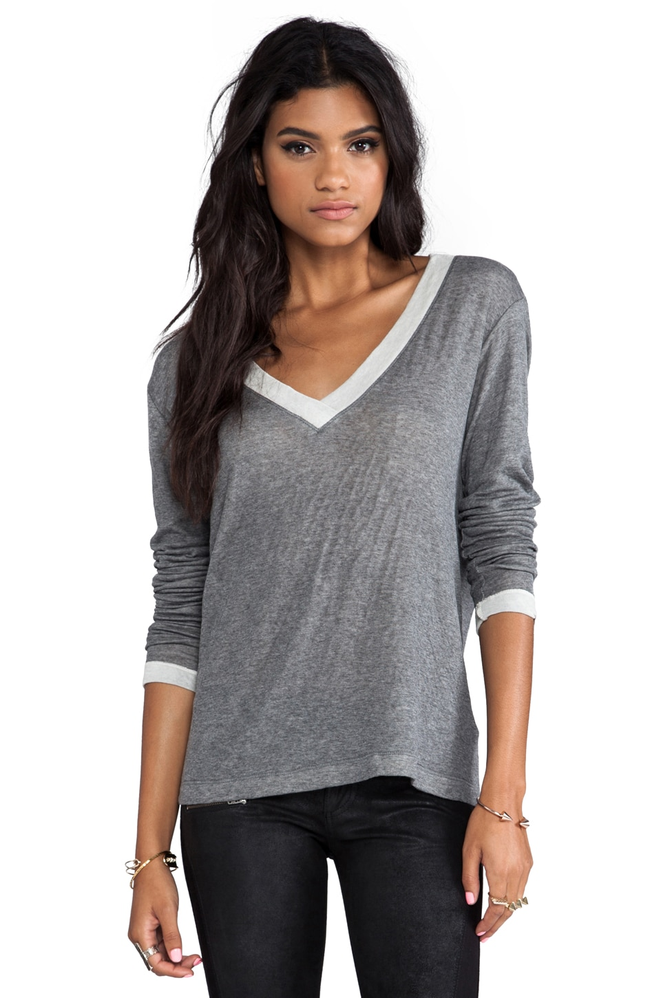 Feel the Piece Andy Top in Heather Grey