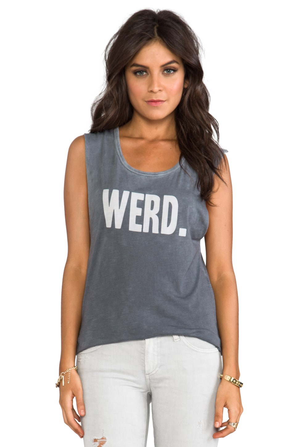 Feel the Piece x Tyler Jacobs Werd Tank in Steel
