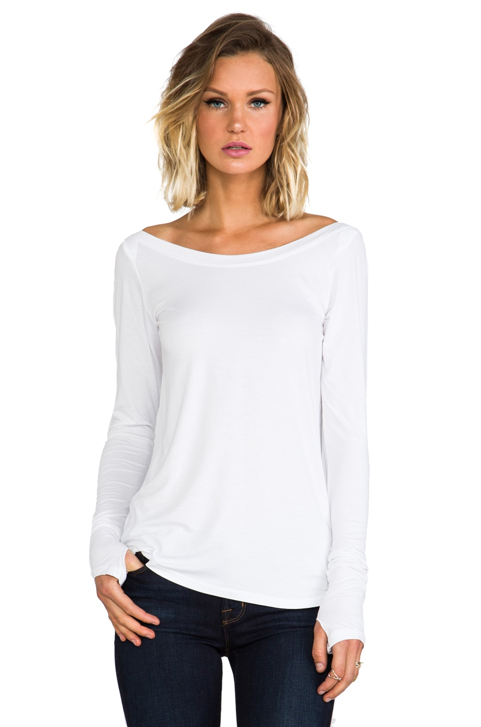 Feel the Piece Ballet Top in White