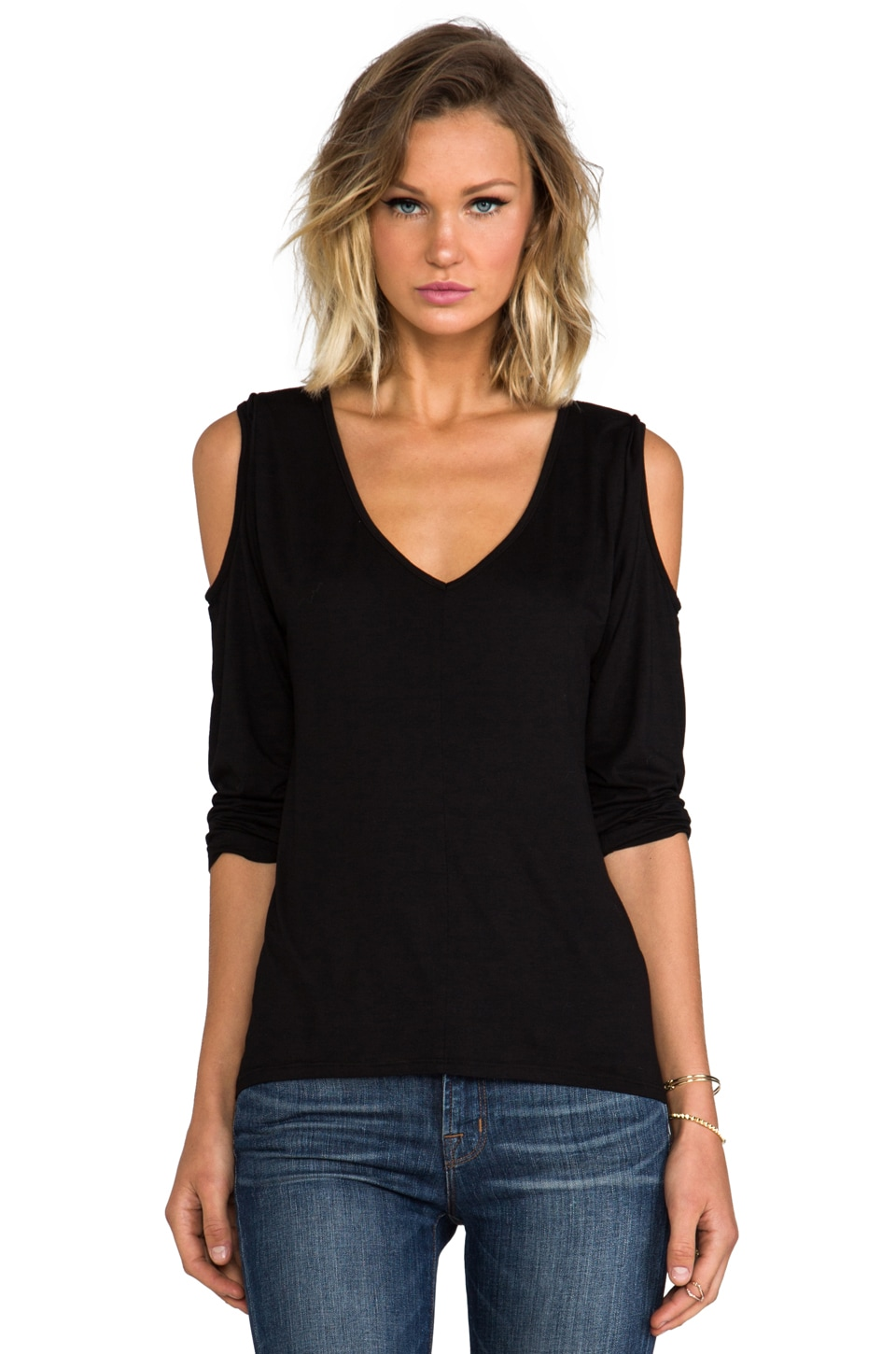 Feel the Piece Aspen Top in Black