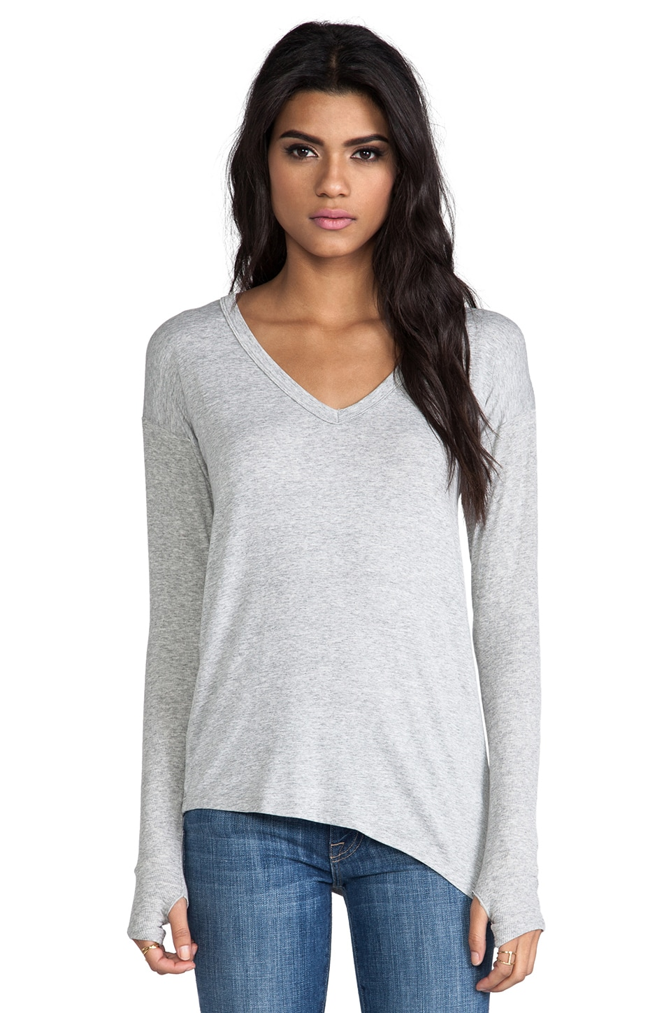 Feel the Piece Stealth Top in Heather Grey