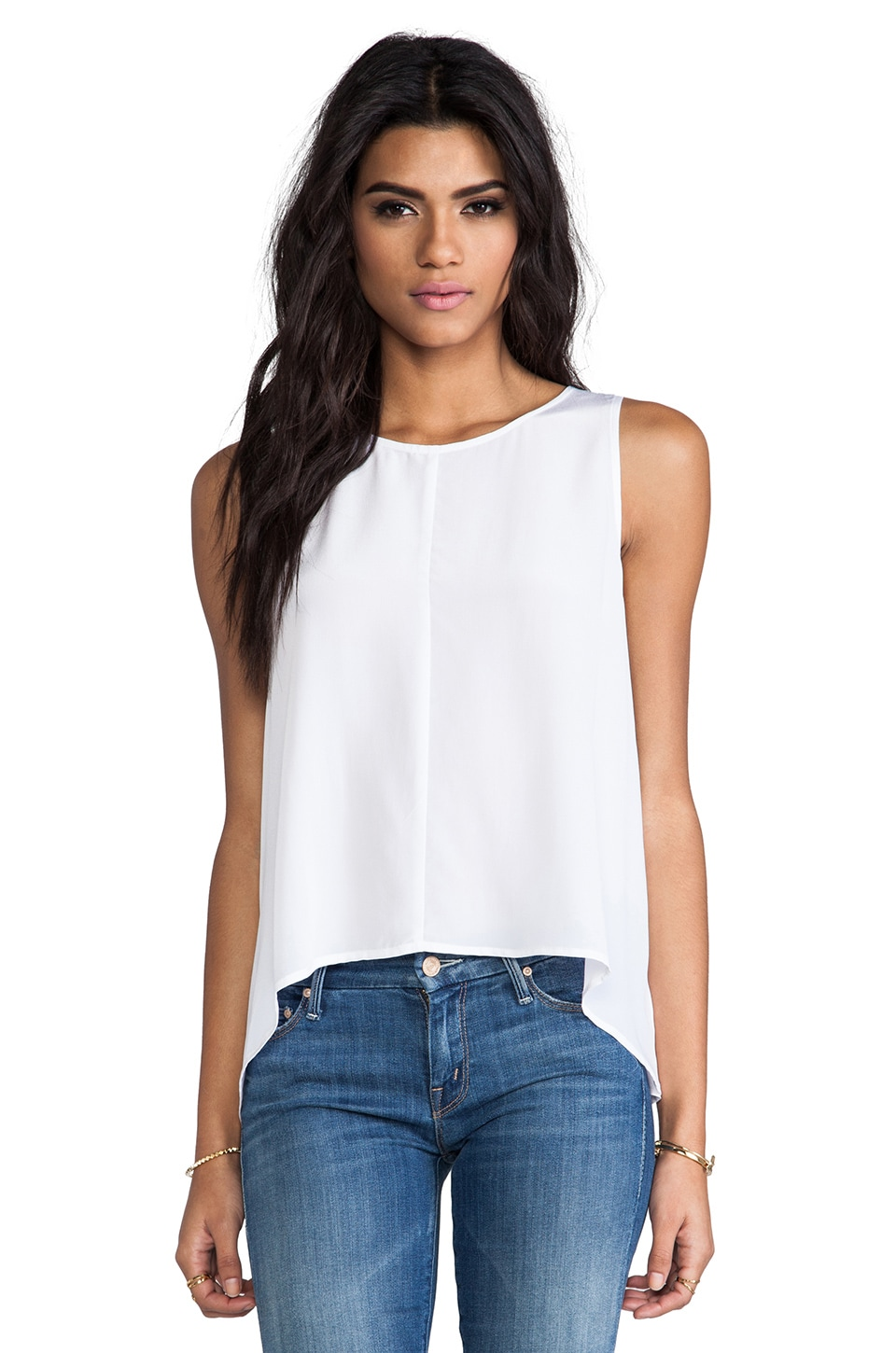 Feel the Piece Farrah Tank in White