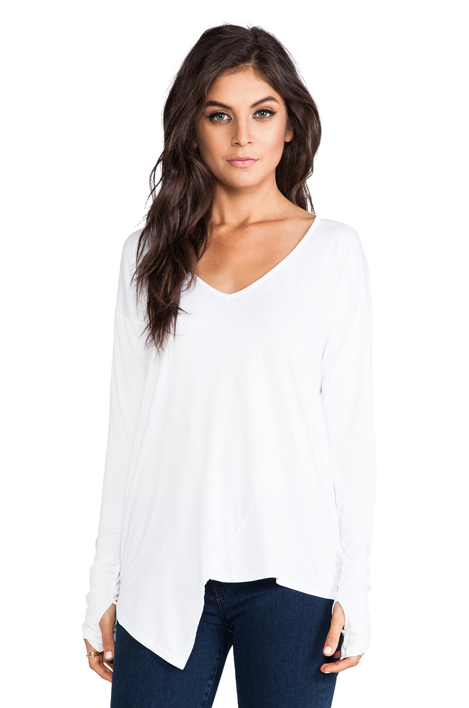 Feel the Piece Flame Long Sleeve in White